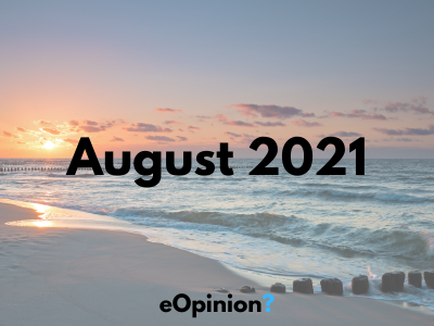 August 2021 Daily eOpinion Results